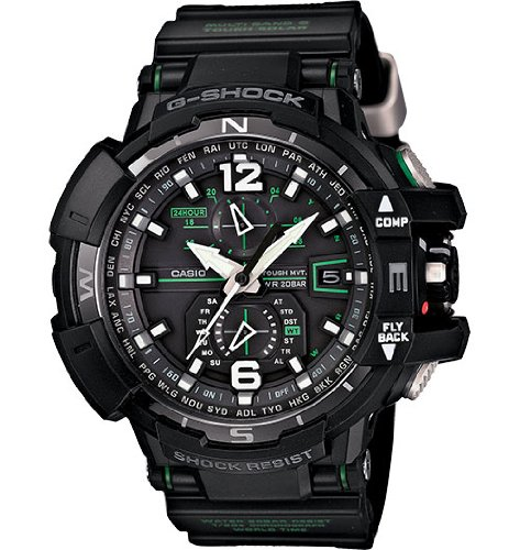 Casio G-Shock GWA-1100-1A3 G-Aviation Series Men's Stylish Watch - Black / One Size