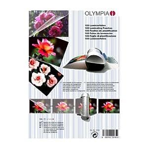 Olympia 9165 Pochettes de plastification à chaud, (20 x A4, 20 x A5, 20 x A6, 40 pochettes pour cartes de visite), 80 microns