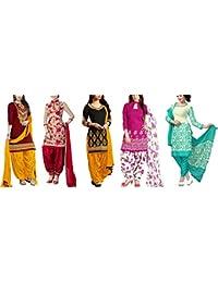 Market Magic World Womens Cotton Silk Dress(Multicolor_MMW_Combo_7091_Free Size)