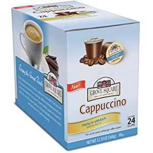 Amazon - Grove Square Cappuccino K-Cup 24-Pack - $9.08