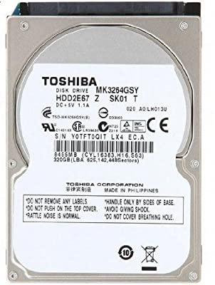 Toshiba 320GB 320 GB 2.5 Inch SATA 7200 RPM Internal Hard Drive For Laptop/PS3 from Toshiba