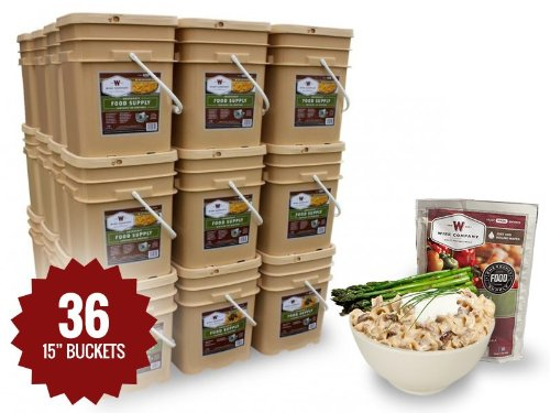 Long Term Food Storage - 4320 Servings - 12 Month Supply - Entrees & Breakfast + Stove & Survival