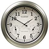 La Crosse Technology WT-3181PL-INT 18 inch Atomic Outdoor Clock with Temperature &amp; Humidity
