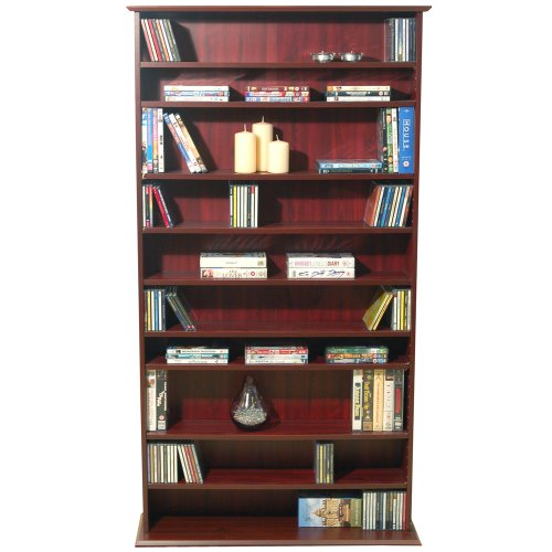 HARROGATE - CD / DVD / Blu-ray Media Storage Shelves - Mahogany Black Friday & Cyber Monday 2014