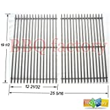 bbq factory Replacement Stainless Steel Rod Cooking Grid/Cooking Grates Set of 2 for Select Gas Grill Models By Weber 7528 Genesis E and S series gas grills, Lowes Model Grills and Others