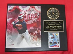 J&C Baseball Clubhouse JC000309 Kirby Puckett Minnesota Twins Collectors Clock... by J & C Baseball Clubhouse