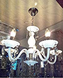 S M Arcade White Italian 6 Light chandelier (SM-35-52/6L)
