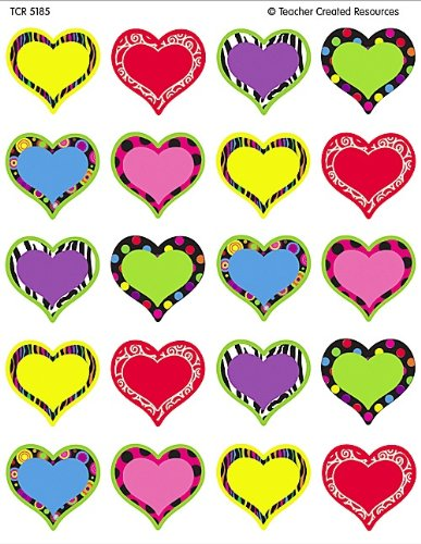 Teacher Created Resources Fancy Hearts Stickers (5185)