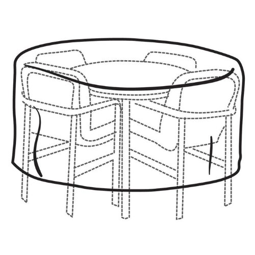 Weather Wrap Round Bar-Height Table and Chairs Cover