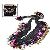 BestDealUSA Fashion Shining Multi Color Sequins Coin Belly Dance Hip Scarf Amazon.com