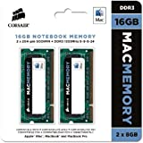 Corsair Apple Certified 16GB (2x8GB)  DDR3 1333 MHz (PC3 10666) Laptop Memory (CMSA16GX3M2A1333C9)