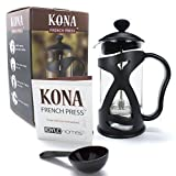 KONA French Press Small Single Serve Coffee and Tea Maker, One Black 12oz (3 Cup | 1 Mug) Pot V. 4