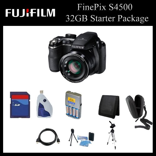 Fujifilm FinePix S4500 Digital Camera (Black) - 16202014 - 32GB Starter Package