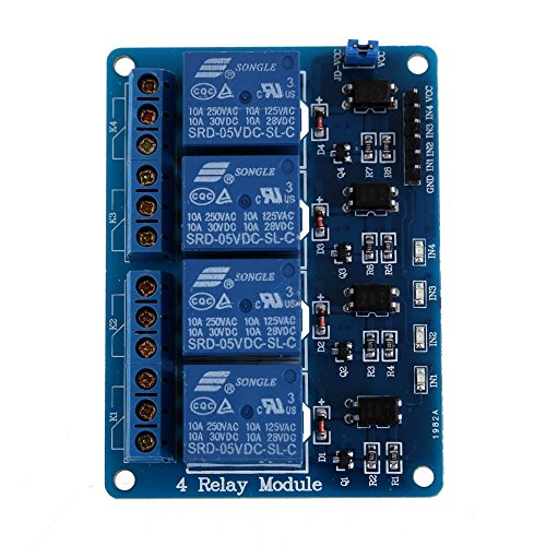 Vakind New 4-Channel 5V Relay Module With Optocoupler For Arduino Dsp Avr Pic Arm
