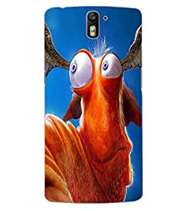 ColourCraft Funny Creature Design Back Case Cover for OnePlus One