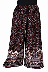 Soundarya Jaipuri Printed Cotton Palazzo for Women