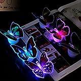 YPOSION 7*7*5.5CM Noël papillon coloré clignote jouets dons créateurs lumière LED Lamp 1PC , multi couleurs...