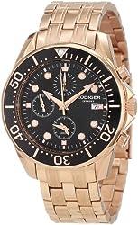 Rudiger Men's R2001-09-007 Chemnitz Rose Gold IP Black Dial Chronograph Watch