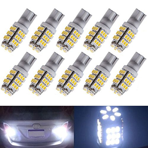 Ecosin Fashion 10xT10/921/194 Warm White RV Trailer 42-SMD 12V Backup Reverse LED Lights Bulbs (Reverse Bulb Adapter compare prices)
