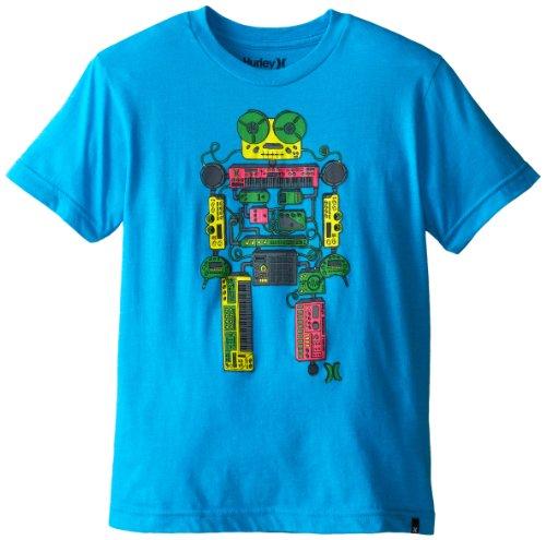 Hurley Big Boys' Mr. Roboto Short Sleeve Tee, Baby Cyan Heather, Large front-469743