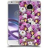 Motorola Moto Z / Z Droid , Purple And White Assorted : Head Case Designs Purple And White Assorted Flowers Hard...