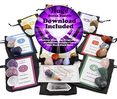 Blue Water Crystals 30 Stone Chakra Set (Healing Crystals Set compare prices)