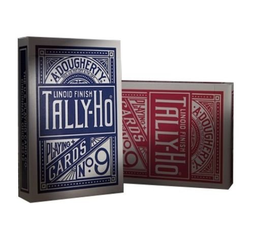 2-decks-of-tally-ho-no-9-original-fan-back-playing-cards-red-and-blue