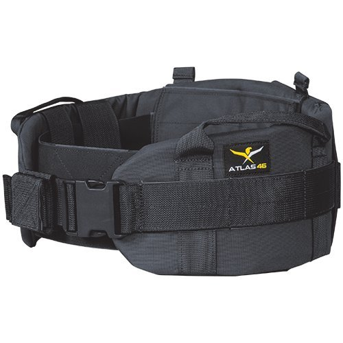 Atlas 46 AIMS Adjustable Padded Belt Black, Large (38-48) | Work, Utility, Construction, Contractor, and Tactical (Color: Black, Tamaño: Large (38-48))
