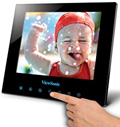 ViewSonic DPG807BK 8-Inch 512 MB SwifTouch Multimedia Digital Photo Frame