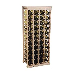 "Wooden Wine Rack-Holds 44 Bottles-Unfinished Pine (Unfinished Pine) (40.5""h x 17""w x 10.5""d)"