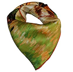 Olina Women's High-Grade Elegant 100% Luxury Square Silk Scarf Shawl (SS009)