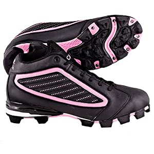 Buy ACACIA Adult Pink Diamond-Mid Softball Cleats BLACK PINK 9A SEE SIZING NOTES by Acacia Sports