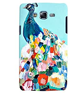 Citydreamz Peacock/Feathers/Abstract/Birds Hard Polycarbonate Designer Back Case Cover For Samsung Galaxy On5 Pro