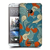 Head Case Blue And Orange Vivid Swirls Protective Back Case Cover For Htc One