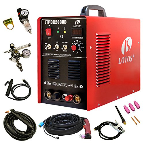 Lotos-LTPDC2000D-Plasma-Cutter-Tig-Stick-Welder-3-in-1-Combo-Welding-Machine-50Amp-Non-Touch-Pilot-Arc-Plasma-Cutter-200A-TIG-Stick-Welder-Dual-Voltage-220V110V
