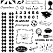 Fiskars 12-89078897 Clear Stamps, School Days