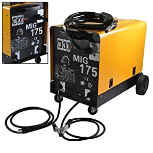 MIG-175 Dual Mode Gas/No Gas 160 AMP 230V Flux Core Wire Welding Machine Auto Feeding from ARKSEN