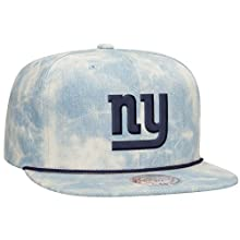 New York Giants NFL Lite Acid Wash Denim Snapback Cap by Mitchell & Ness