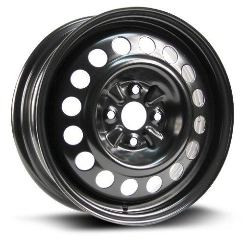 Steel Rim 15X5.5, 4X100, 54.1, +45, black finish (MULTI APPLICATION FITMENT) X40957 (1991 Toyota Corolla Rims compare prices)