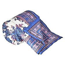 Diseño Floral Jaipuri Little India algodón de funda de edredón para cama de matrimonio multicolor