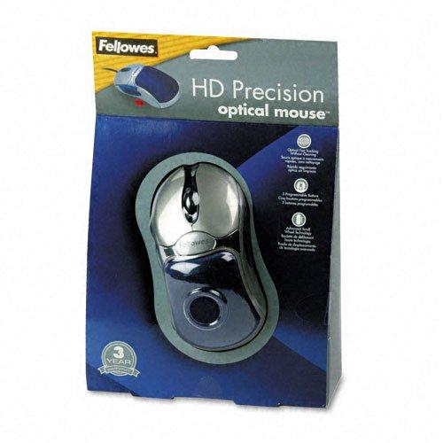 Fellowesfel98905 Optical Hd Precision Gel Mouse Five Button Scroll Blue Silver