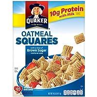 Quaker Oatmeal Squares Whole Grain Cereal Brown Sugar Box (14.5 oz)