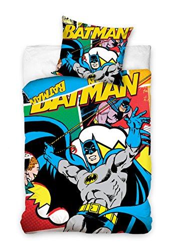 Copripiumino Singolo Cotone Batman 160 X 200 Cm Federa 70 X 80 Cm