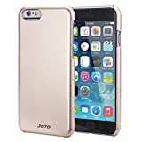 """JOTO iPhone 6 4.7 Case - Slim Thin Fit Hard Cover Case Exclusive for Apple iPhone 6 4.7"""" (2014), Premium Metal effect coating hard case for iPhone 6 (Gold)"""