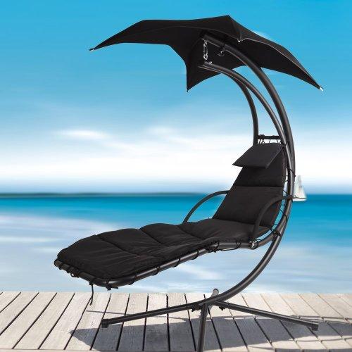 Black Dream Chair Swing Hammock Garden Furniture Sun Seat Relaxer / Canopy