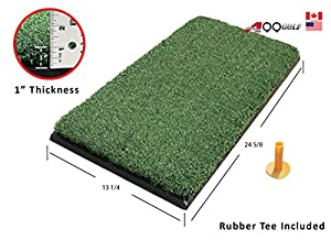 Practice Mat 13.25in X 24.625in Ultra Thick Range Practice Chipping Driving Mat Holds a Tee