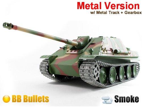 1/16 Radio Control German JAGDPanther Tank Destroyer RC Battle Tank Smoke & Sound (Upgrade Version w/ Metal Gear & Tracks)