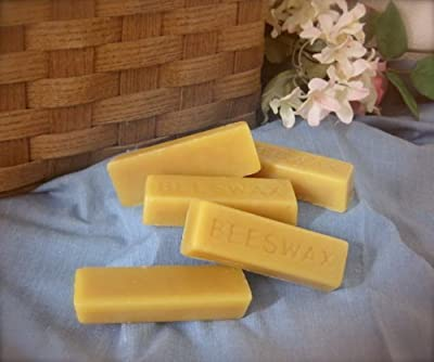 (5 Bars) 100% ORGANIC Hand Poured Beeswax - 30g each - Premium Quality, Cosmetic Grade, Triple Filtered Bees Wax from All Natural Beeswax from the Pocono Mountains