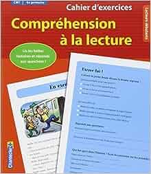 Amazon.fr - Cahier d'exercices Compréhension à la lecture (CM1 4e primaire) (rouge) - Moniek ...