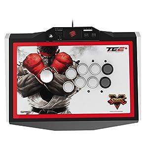 ストリートファイター V アーケード ファイトスティック トーナメント エディション 2+ (PlayStation3 / PlayStation4) タッチパッド・ボタン L3 / R3 ボタン LED ライトバー 機能 搭載